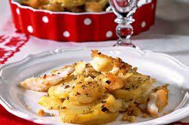 Ricetta Baccalà al forno con le patate e vino bianco